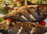 Рыба под грилем + два салата - готовим по-гречески