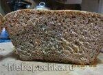 Ржано-пшеничный дрожжевой хлеб без кислинки с чесноком в духовке