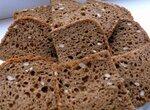 Хлеб ржаной с льняной мукой в хлебопечке