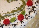 Торт Чай со сливками и малиной