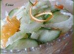 Салат из стеблей сельдерея и апельсина