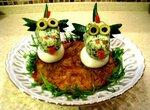 Новогодние дракончики (фаршированные яйца)
