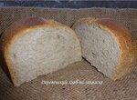 Деревенский хлеб на ржаной закваске в хлебопечке