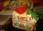 Овощной торт Баклажан