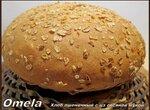Хлеб пшеничный с цз овсяной мукой (духовка)