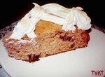 Ореховый пирог с инжиром и вяленой хурмой