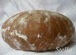Ржано-молочный хлеб со шротом расторопши, патокой и маслом ГХИ.