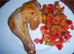 Жареная курица сухого посола (знаменитый рецепт)