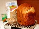 Panasonic SD-2501. Пшеничный хлеб с сыром, сырокопченой колбасой и отрубями Крещенский