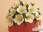 Цветы Christmas Rose (пэчворк) ( мастер- класс)