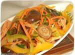 Салат с морковью, спаржей и грибами шиитаки по-корейски