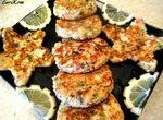 Оладушки из семги и крабового мяса
