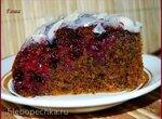 Пирог вишнево-маковый с орехами (духовка, мультиварка)