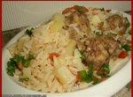 Рис с тефтелями (скороварка Brand 6050)