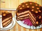 Торт шоколадно-тыквенный