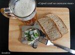 Серый хлеб на светлом пиве в хлебопечке