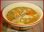 Суп с фаршированными пенне