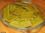 Печенье зелёное укропно-чесночное