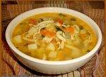 Суп с цукини, сельдереем и домашней лапшой