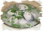 Суп с фрикадельками и петрушкой из кинофильма Король Дроздобород