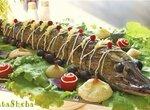 Фаршированная щука в виноградных листьях из кинофильма Огниво