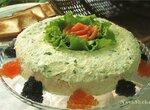 Слоеный русский салат с форелью и икрой из кинофильма Вам письмо
