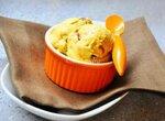 Мороженое без сахара Манго-кофейное с кофейной ириской из фиников, жареного белого шоколада, кедровых орешков
