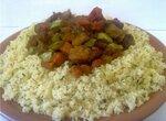 Мясо по-индийски с кус-кусом и специями