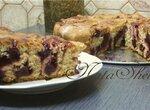 Пирог творожный  Rosenkuchen  с вишневой начинкой