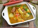 Суп из  баранины с вяленой алычой