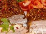 Мясо в универсальном маринаде запеченое целым куском.