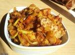 Кабачки с вялеными томатами, курицей и картофелем в мультиварке Panasonic