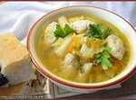 Суп куриный с молодой капустой и клёцками