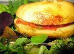 Картофель, печенный с помидором