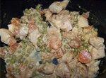 Куринное филе с морковью и зеленым горошком в мультиварке Moulinex Minute Cook