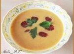 Суп-пюре с чоризо