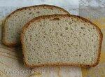 Серый пшеничный хлеб на меду методом холодной растойки