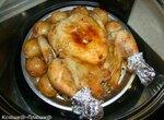 Цыпленок, фаршированный рисом и грибами (аэрогриль Brand 35128)