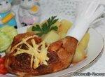 Окорок куриный, фаршированный грибами и сыром (аэрогриль Brand 35128)