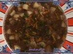 Грибной картофельный суп (частичное пюрирование)