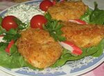 Картофельно-крабовые котлетки с чесночным соусом