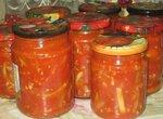 Острые кабачки в томатном соусе