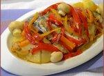 Сибас с овощами в цептере
