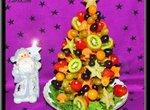 Фруктовая рождественская ёлка