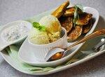Зеленая коллекция: Дуэт Мороженое киви — огурец с лаймом, тархуном и мятой; Кабачковые оладьи с зеленым луком