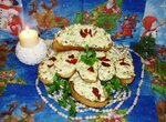 Бутерброды из яичной массы Новогодние