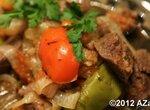 Конина тушеная остро-пряная с овощами (Moulinex Minute Cook CE4000)