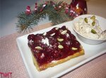 Фисташковый пирог с вишней и красным вином