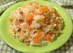 Каша рисовая, томленая с тыквой и фруктами в скороварке Oursson 5005