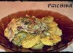 Курица с картофелем под сливочно-сырным соусом (мультиварка Brand 37501)